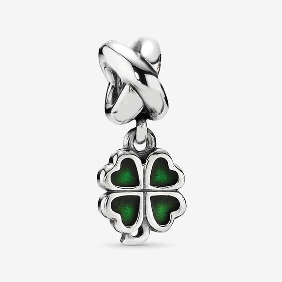 PANDORA Four-Leaf Clover, Green Enamel Charm